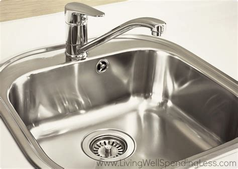 Clean Sink Faucet by Beginner S Guide To Cleaning Part 4 How To Clean Your Kitchen Living Well Spending Less 174