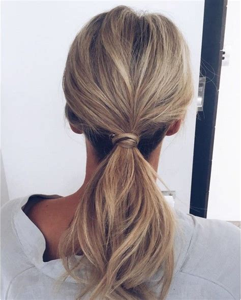 Low Ponytail Hairstyles by The 25 Best Ideas About Low Ponytails On