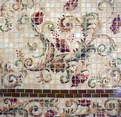mosaic tile designs hand painted stone mosaic tile murals