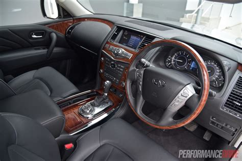 infiniti interior 2015 infiniti qx80 review video performancedrive