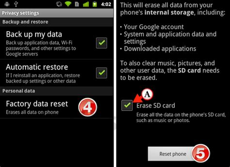 how to factory reset android phone how to reset your android phone to factory settings