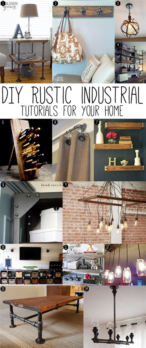 industrial home decor ideas diy rustic industrial chic andrea s notebook