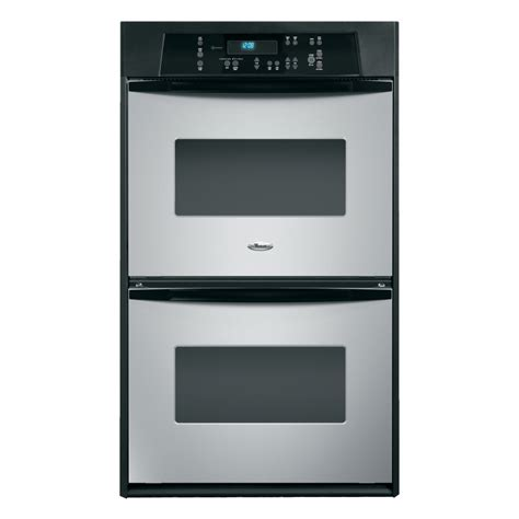 shop whirlpool self cleaning electric wall oven stainless steel common 24 in actual