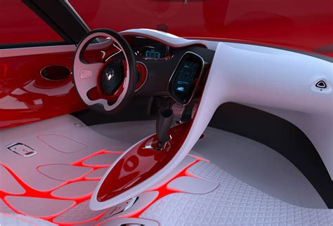 interior design car renault dezir concept car design