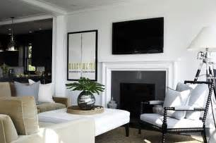 Black And White Living Room by Garden Inspired Living Room Ideas