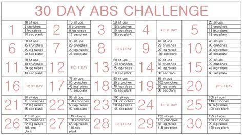 30 days abs challenge calendar 30 day ab challenge calendar search results calendar 2015