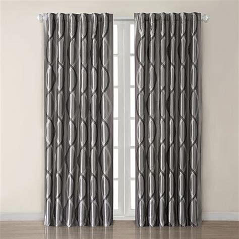 madison park marcel curtain panel madison park marcel window panel charcoal 10065888 hsn