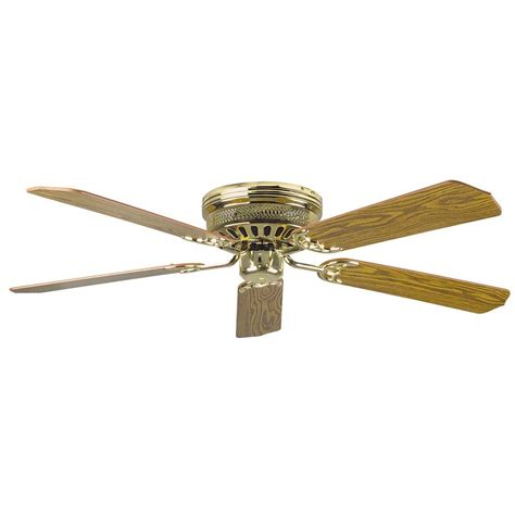 Brass Ceiling Fan With Light Radionic Hi Tech Palilly 52 In Polished Brass Ceiling Fan With Light Kit And 5 Blades Lum Fan
