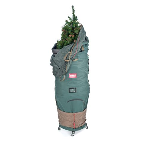 lowes christmas tree bag shop treekeeper 55 in x 90 in 46 35 cu ft polyester tree storage bag at lowes