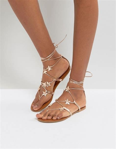 Lace Up Flat Sandals new look new look lace up flat sandal