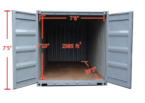 40 feet in meters 40 storage container rentals a b richards