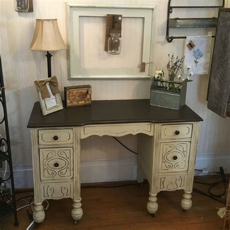 desk painted in blackberry house paint cream corn and