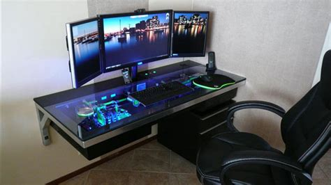 Awesome Gaming Desk Awesome Custom Built All In One Desk L3p D3sk