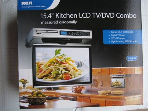 under cabinet television for kitchen rca kitchen lcd tv dvd combo 15 4 quot under cabinet best