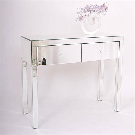 two drawer dressing table in mirrored or black by out
