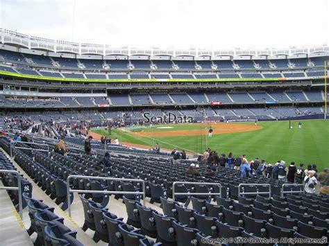 yankee stadium section 105 new york yankees yankee stadium section 109