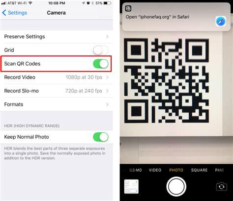 scan qr codes  iphone  iphone faq