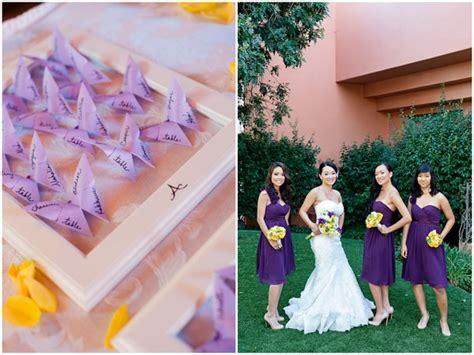 yellow and purple wedding theme in redondo california