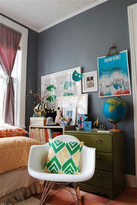 eclectic bedroom decor my houzz mid century modern d 233 cor meets bold textiles in