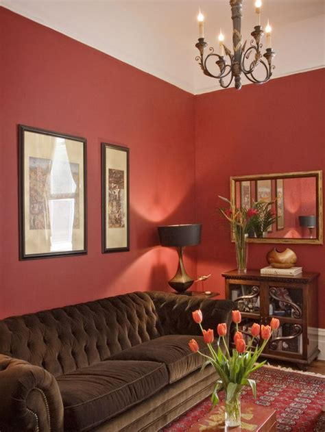 wall color  red couch houzz