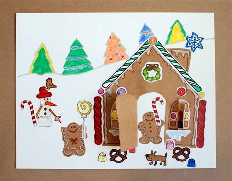 Gingerbread House Paper Craft - craft kit gingerbread house paper craft kit for
