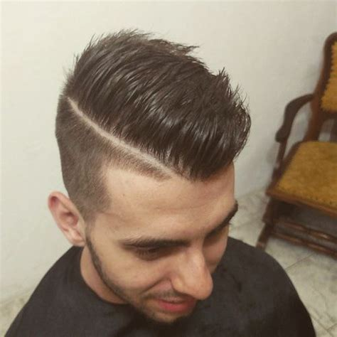 mens hairstyle shaved line master 50 life changing shaved sides haircuts for men