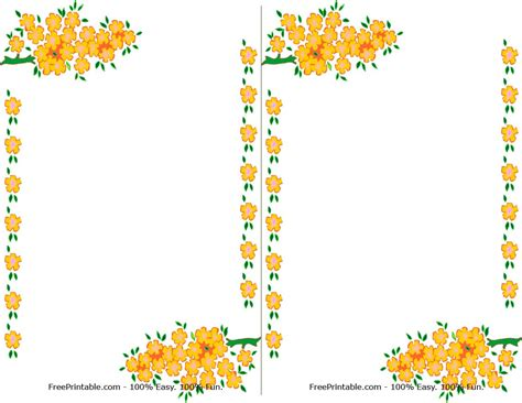 border design flower yellow 7 best images of printable wedding invitation yellow and