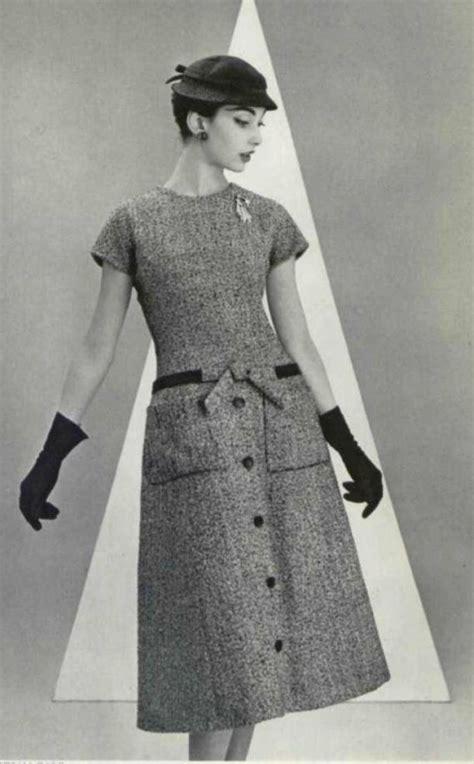 vintage style 1950s a line 1955 christian a line dress 1950s fashion