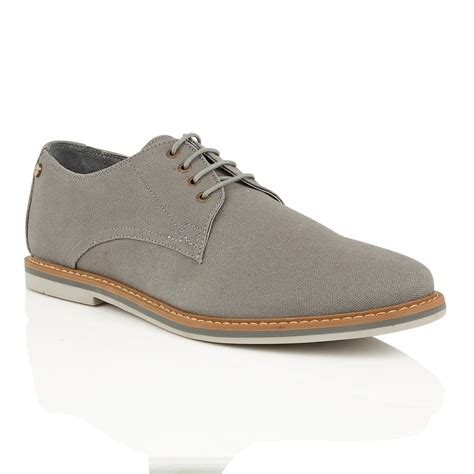 buy s frank wright telford grey canvas derby shoe