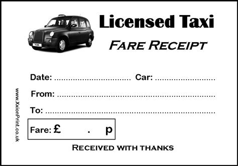 printable taxi receipt uk 2 pads of 100 black taxi cab licensed taxi receipts
