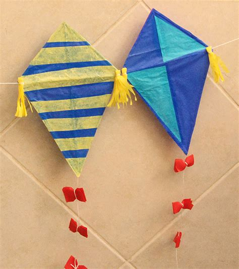 Kite Paper Craft - kites and curious george with creative make