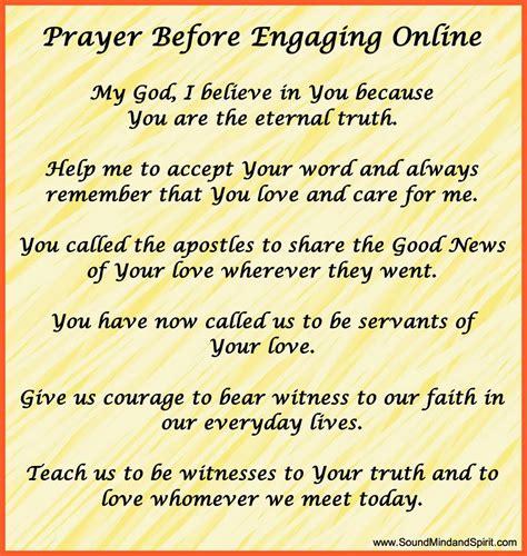 prayer before of sound mind and spirit november 2013