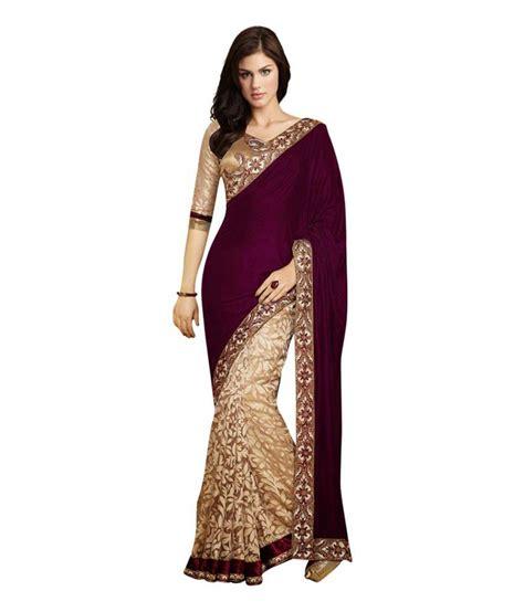 Buy Zara Gift Card Online - zara creation maroon velvet saree buy zara creation maroon velvet saree online at