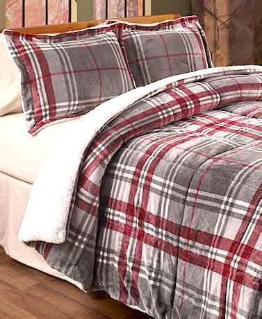plush bed rest pillows the lakeside collection remington 174 sherpa backed plush plaid bedding the