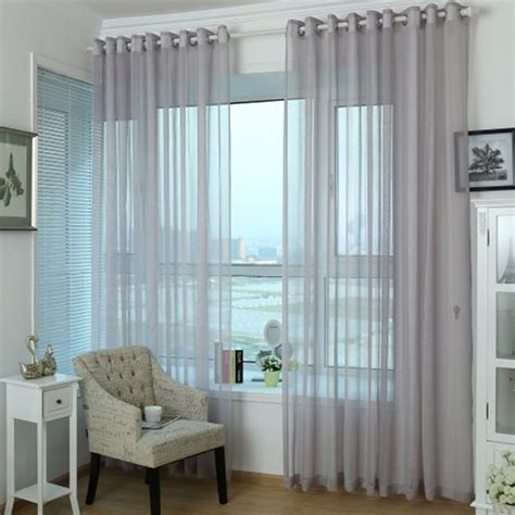 gray sheer curtains unique and simple home grey purple sheer curtain