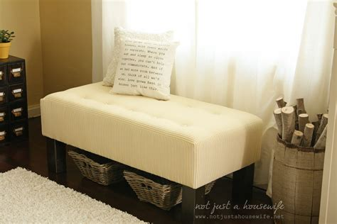 tufted bench diy upholstered bench not just a housewife