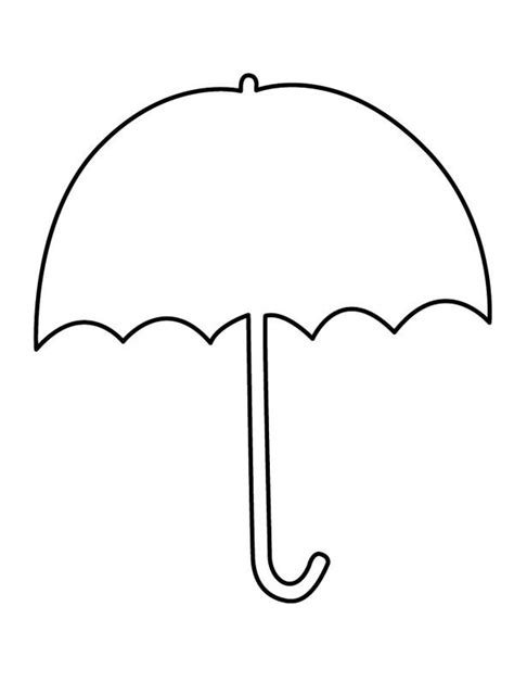 coloring page of umbrella umbrella clipart coloring pages alkuopetusideat