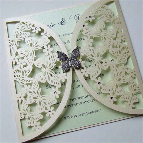 butterfly laser cut wedding invitation wedding paraphernalia