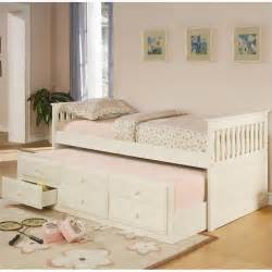White Trundle Daybed Coaster La Salle Daybed With Trundle And Storage Drawers In White 300107