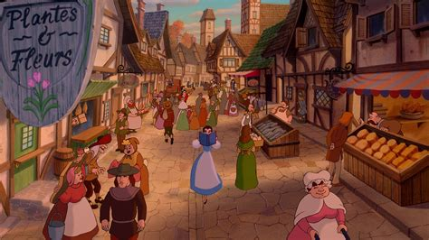 beauty and the beast town village disney wiki fandom powered by wikia