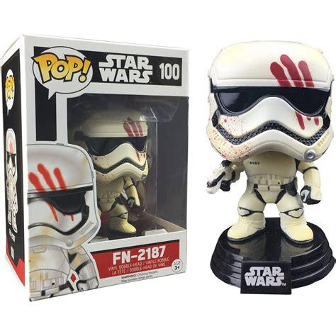 Funko Pop Wars Finn Stormtrooper Unmasked Exclusive 76 funko wars fn 2187 stormtrooper with blood ep 7 pop vinyl figure at hobby warehouse