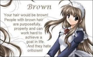 anime hair color quiz anime with brown hair