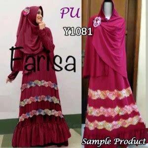 Jilbab Rainbow Jumbo gamis farisa rainbow y1081 baju muslim murah
