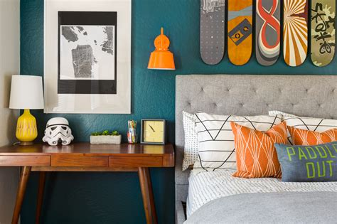 teal and orange bedroom ideas design reveal a skateboarding bedroom for chase project