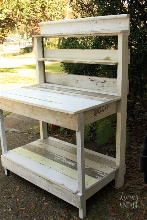 vintage potting bench for sale reclaimed trim transformed into a potting bench living