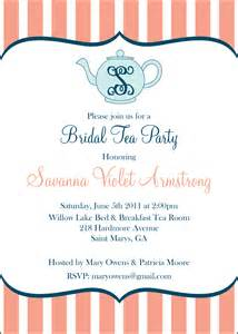 Bridal Shower Tea Party Invitations Having A Bridal Tea The Lettered Lily