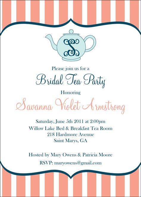 afternoon tea party invitations customise online plus free