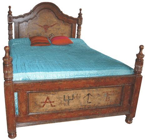 western bedroom set furniture western furniture king size pillares bed lone star