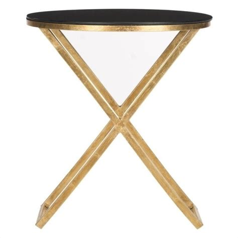 accent table l safavieh riona iron and glass accent table in gold and