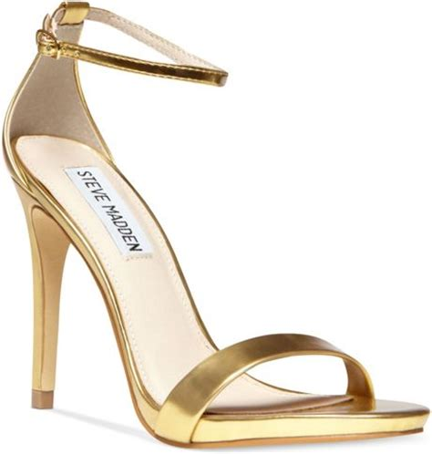 gold sandals steve madden steve madden stecy two sandals in gold lyst